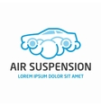 Air suspension logo template vector image vector image
