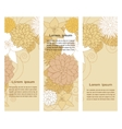 Banners with floral beige elements vector image vector image