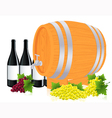 Barrel with wine vector image