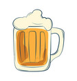 beer mug with foam vector image vector image