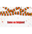 belgium flags garland on transparent background vector image