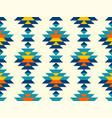 boho aztec vertical diamonds rows colorful pattern vector image vector image