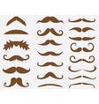 Brown mustache vector image vector image