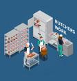 butchery shop floor background vector image vector image