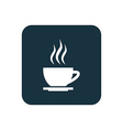 cap of tea icon Rounded squares button vector image