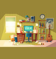 cartoon deadline concept for freelance job vector image
