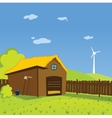 Cartoon farm background vector image vector image