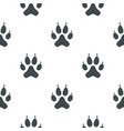 cat paw pattern seamless vector image vector image
