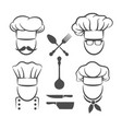 chef menu logo elements vector image vector image