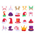 christmas holiday hat or new year party mask icon vector image vector image