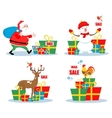 Christmas sale characters vector image
