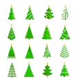 Christmas tree icons flat vector image