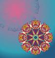 Circle lace hand-drawn ornament card vector image vector image