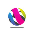 colorful abstract circle logo vector image