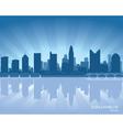 columbus ohio skyline vector image vector image