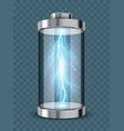 concept energy transparent battery vector image vector image