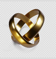 couple golden rings ring symbol wedding vector image