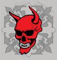 cross skull vector image