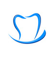 dental care smile blue symbol logo design vector image