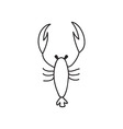 Doodle lobster animal icon vector image vector image