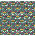 Ethnic doodle seamless pattern in retro colors