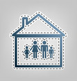 family sign blue icon with vector image vector image