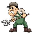 Farmer angry vector image vector image