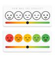 feedback emoticon flat design icon set customer vector image vector image