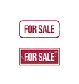 for sale text rubber stamp vector image vector image