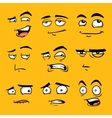 funny cartoon faces with emotions vector image
