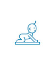 getting on all fours linear icon concept getting vector image vector image