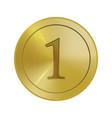 gold winner medal template vector image