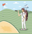 golf player in course vector image vector image