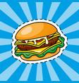 hamburger icon cartoon vector image