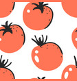 hand drawn seamless pattern with vegetable vector image