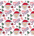 happy new year pattern christmas seamless vector image