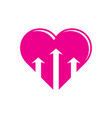 heart love arrow business logo vector image vector image