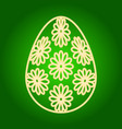 icon of easter egg with flower pattern vector image