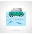 Insurance car flat color design icon vector image
