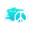 international peace day banner 21 september vector image vector image