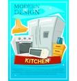 Kitchen modern design vector image
