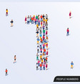 large group people in number 1 one form vector image vector image