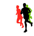 marathon runners with copy space vector image vector image