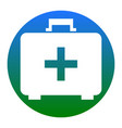medical first aid box sign white icon in vector image vector image