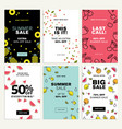 mobile sale banner templates vector image vector image