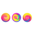 modern futuristic colorful circles set vector image