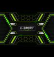 modern futuristic e-sports concept glow green vector image vector image