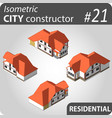 modern isometric buildings vector image vector image