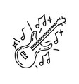 music icon doddle hand drawn or black outline vector image vector image