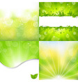 Nature Backgrounds Set vector image